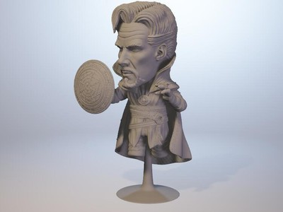 Q版奇异博士 (分件手办粘土人)漫威 复联3-3d打印模型