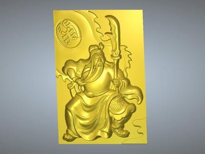 经典玉雕系列-关公忠义千秋-3d打印模型