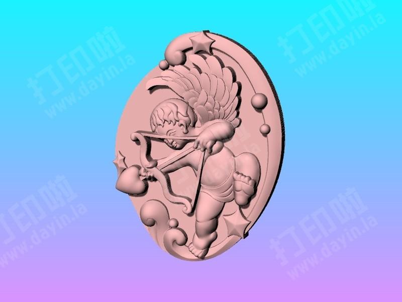 爱神丘比特玉雕吊饰-3d打印模型