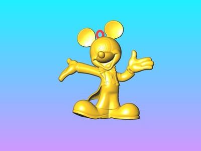 米奇钥匙圈吊饰1-3d打印模型