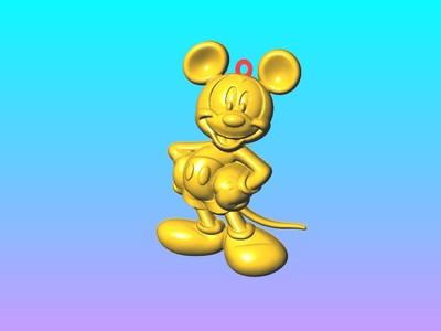 米奇钥匙圈吊饰 2-3d打印模型