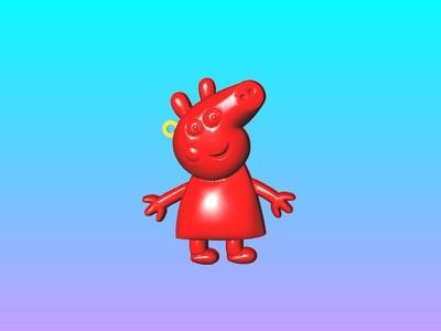 小猪佩奇钥匙圈吊饰 1-3d打印模型