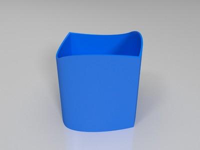 视觉错觉-圆形和方形-3d打印模型