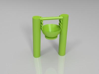 荡油锅-3d打印模型
