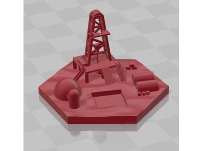 太空港-3d打印模型