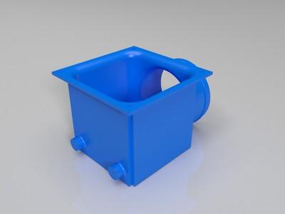 风机出风口-3d打印模型