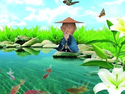 渔翁Q版姜太公-3d打印模型