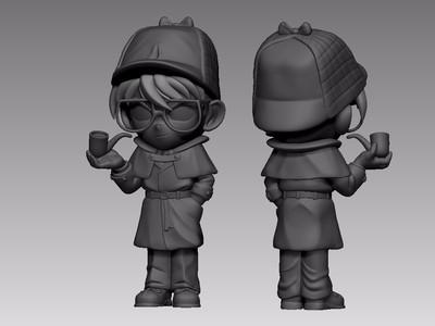名侦探柯南-3d打印模型