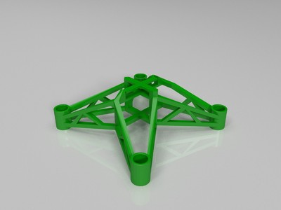 四轴空心杯机架-3d打印模型