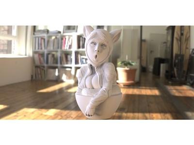 兔女郎-3d打印模型