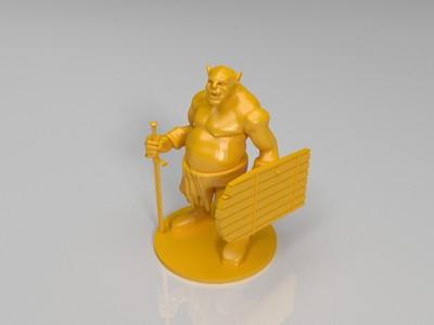 兽人 兵人-3d打印模型