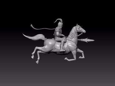 骑马雕像-3d打印模型