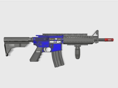M4鱼骨(BB枪水弹枪通用)-3d打印模型