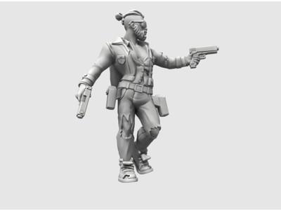 英雄3 潮人黑帮-3d打印模型