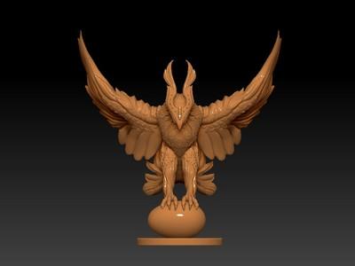 dota2-凤凰-3d打印模型