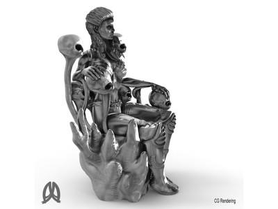 女王雕像-3d打印模型