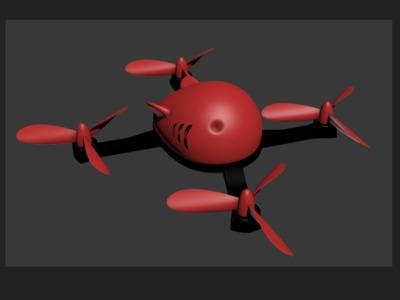 无人机(红鲨)-3d打印模型
