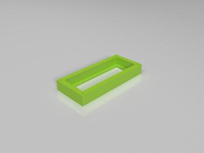 電子鐘外殼-3d打印模型