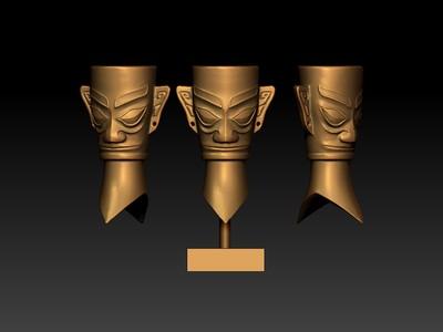 金面罩-3d打印模型