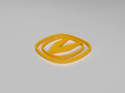 长安车标-3d打印模型