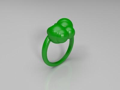 泡泡戒指-3d打印模型