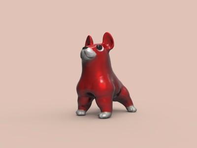 强壮的斗牛犬-3d打印模型
