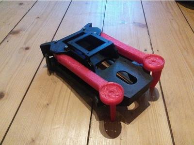 可折叠无人机(大号电池版)【Foldable drone frame (for big batteries)】-3d打印模型