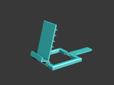 可调档手机支架-3d打印模型