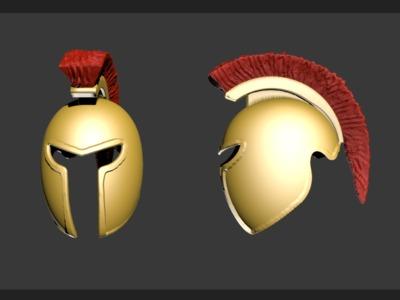 黄金战盔-3d打印模型