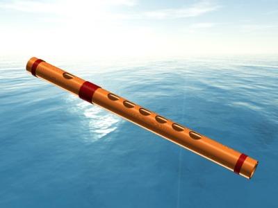 笛子-3d打印模型