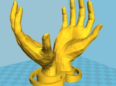 10cm月球灯底座-3d打印模型