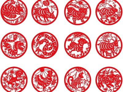 国家宝藏之12生肖剪纸 1-3d打印模型