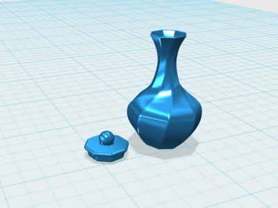 旋转花瓶-3d打印模型