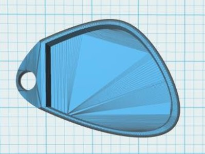 雅迪电动车遥控器壳-3d打印模型