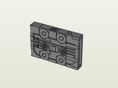 磁带变形-铲车-3d打印模型