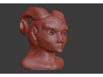 泰林夫人像-3d打印模型