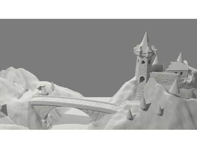通往城堡的路-3d打印模型