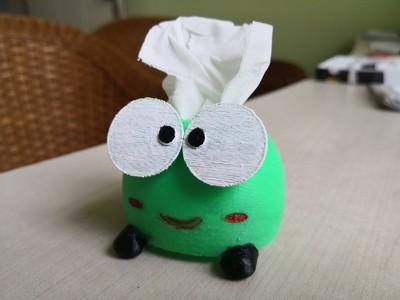青蛙纸巾盒-3d打印模型