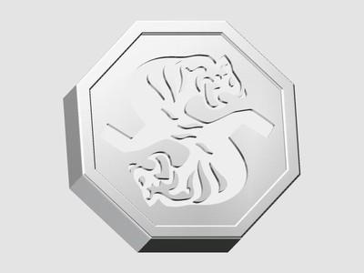 成龙历险记符石-虎-3d打印模型