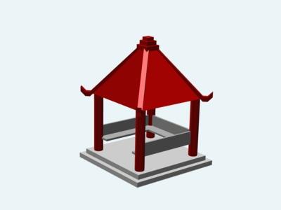 几何凉亭-3d打印模型