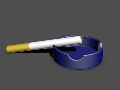 烟与缸-3d打印模型