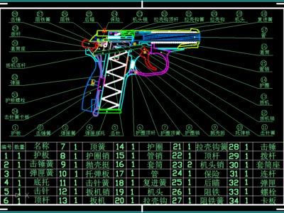 MP654K手枪 马卡洛夫PMM手枪《A》-3d打印模型