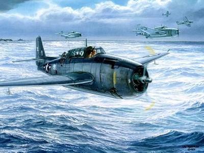 TBF复仇者式鱼雷轰炸机-3d打印模型