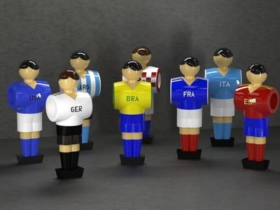 桌面足球人物-3d打印模型