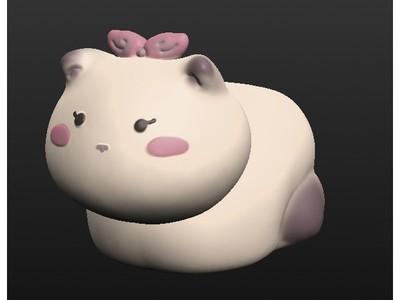 可爱的猫豆-3d打印模型