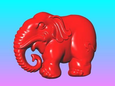 經典玉雕系列-大象吊饰-3d打印模型