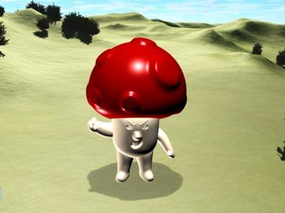 愤怒的蘑菇人-3d打印模型
