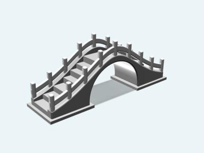 仿古拱桥-3d打印模型