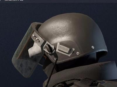 重型战术头盔+面罩-3d打印模型