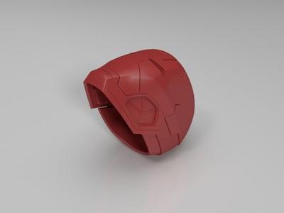 《美国队长3》战争机器MK3(头盔)-3d打印模型